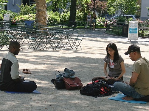 By: Beyond My Ken. 'Meditating in Madison Square Park, Manhattan, New York City' (2010) via Wikimedia Commons: https://commons.wikimedia.org/wiki/File:Meditating_in_Madison_Square_Park.jpg